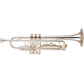 Bb trompet verzilverd